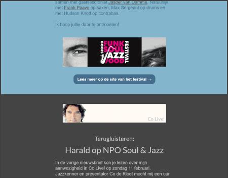 schermafbeelding nieuwsbrief Harald Walkate