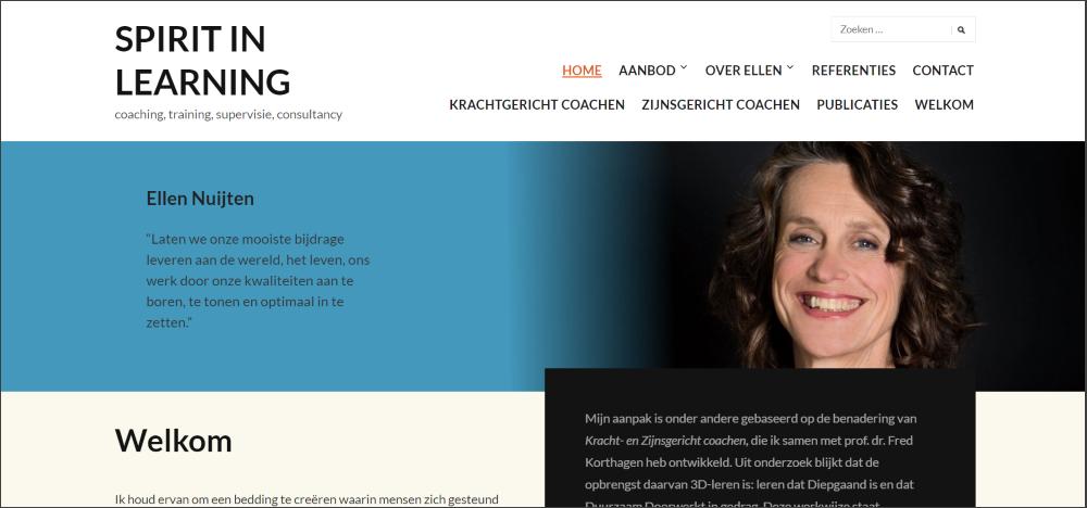 schermafbeelding spiritinlearning.nl